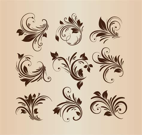 floral design elements vector set vector set floral design elements free vector graphics