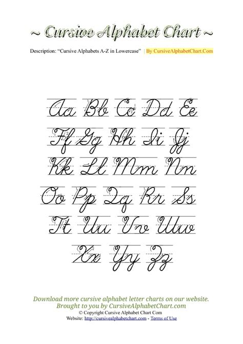 printable cursive letters uppercase and lowercase uppercase lowercase cursive alphabet charts with arrows