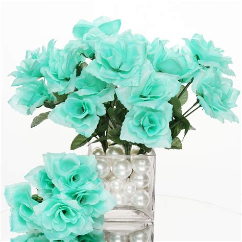 Weddings Silk Flowers by 168 Silk Open Roses Wedding Bouquets Flowers Centerpieces