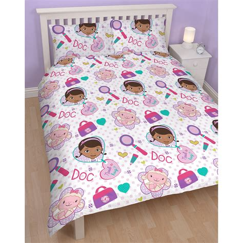 doc mcstuffins bedroom doc mcstuffins bedding single and double duvet cover sets girls bedroom ebay