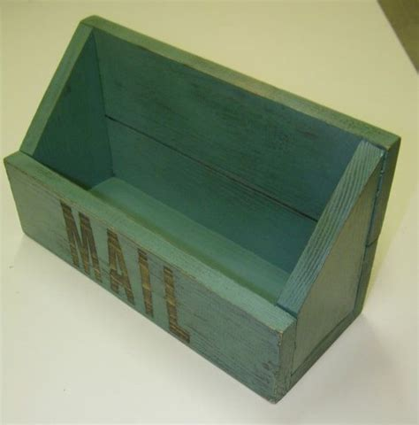 wood shabby chic mail pocket wall or table top organizer