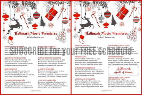 printable schedule of hallmark christmas movies why we love hallmark holiday movies so darn much mary carver