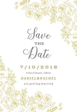 Elegant Flowers   Free Save the Date Card Template