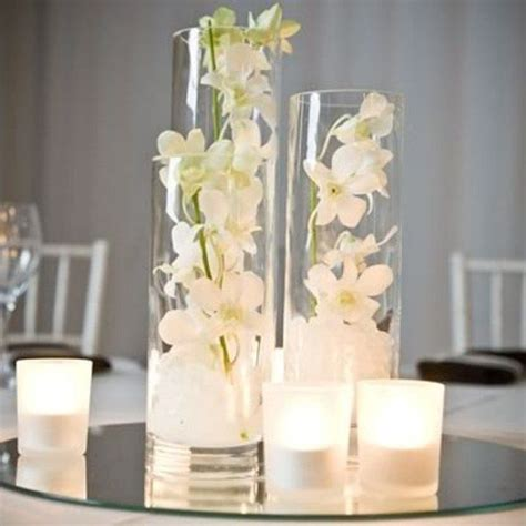 clear cylinder vase decorations clear glass 10x25cm