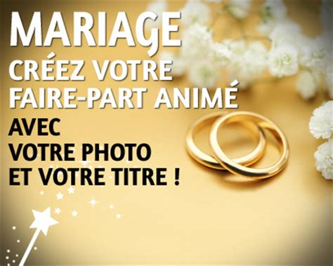 Mariage Carte Faire Part Anim 233 E