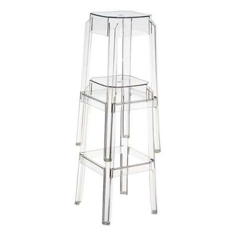 Tabouret Bas Design by Tabouret Bas Design En Plexi Fox 4 Pieds Tables
