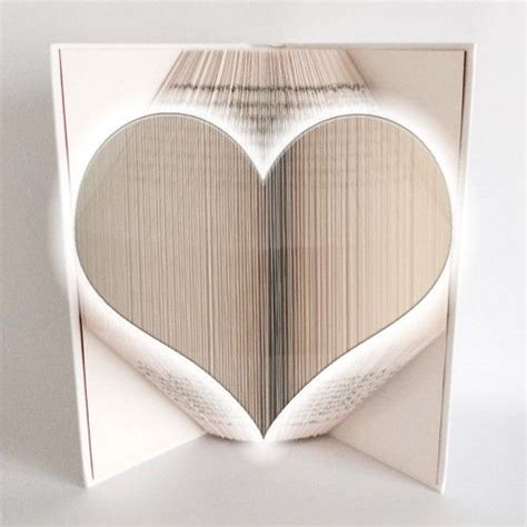 heart book folding pattern 350 pages 175 folds book