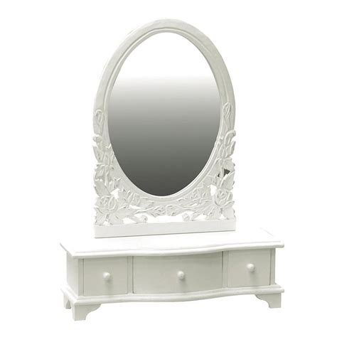 Vanity Mirror Uk by White Wooden Shabby Chic Vanity Mirror Drawers