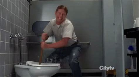 gay bathroom stall tumblr toilet clog gif 30rock toilet discover share gifs
