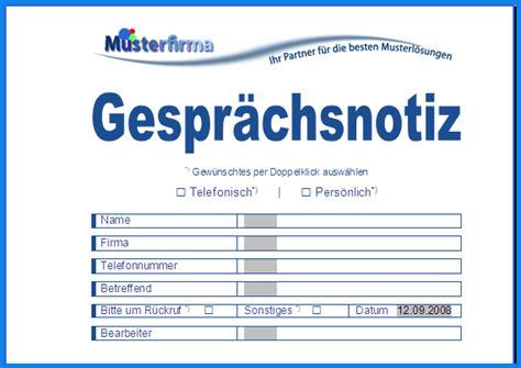 Word Vorlage Gespr Chsnotiz vorlage telefonnotiz