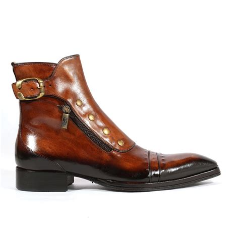 jo ghost mens boots jo ghost italian mens shoes playo inglese tabacco brown