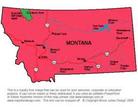 blank map of montana rivers
