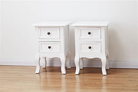 Set Of 2 White Bedside Tables Agtc0013 Set Of Two Bedside Tables