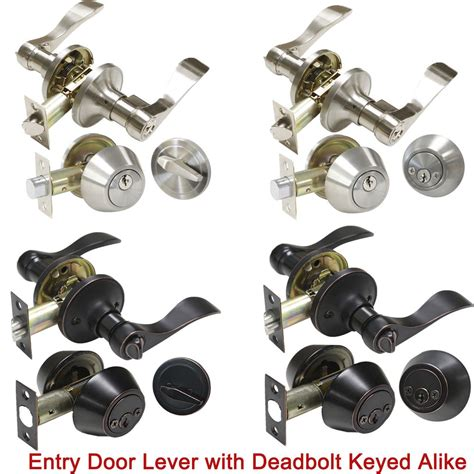 Keyed Alike Door Knobs And Deadbolts by Rubbed Bronze Satin Nickel Keyed Alike Door Levers