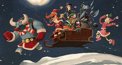 a dnd dragonlance group during christmas markus erdt