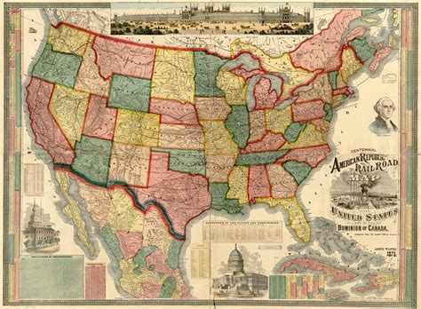 map usa historical united states 1875 wall map mural