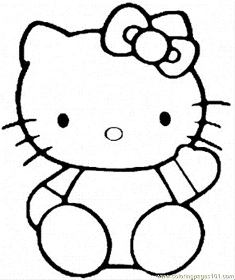 hello kitty coloring pages for toddlers free printable hello kitty coloring pages coloring home