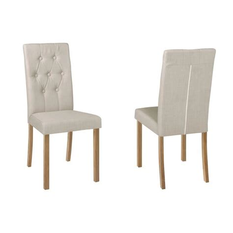 chaise tissu salle a manger lot de 2 chaises salle 224 manger karisma en tissu l achat