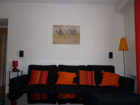 salon noir orange moderne photo 24 murpro d 233 licieux salon de maison moderne 14 decoration salon
