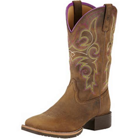ariat s 11 in hybrid rancher boots distressed