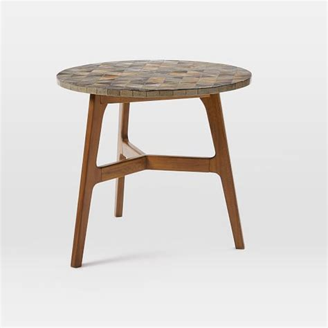 Tile Bistro Table Mosaic Tiled Bistro Table Slate Top West Elm