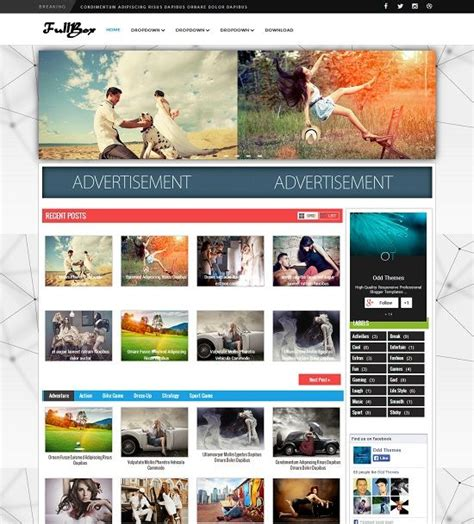 fullbox magazine blogger template 187 abtemplates com