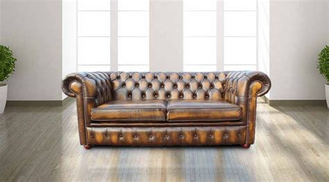 Buy Gold Leather Chesterfield Sofa At Designersofas4u Gold Chesterfield Sofa