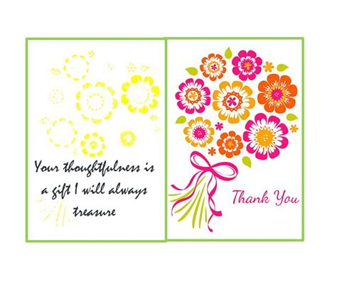 thank you note card template 30 free printable thank you card templates wedding