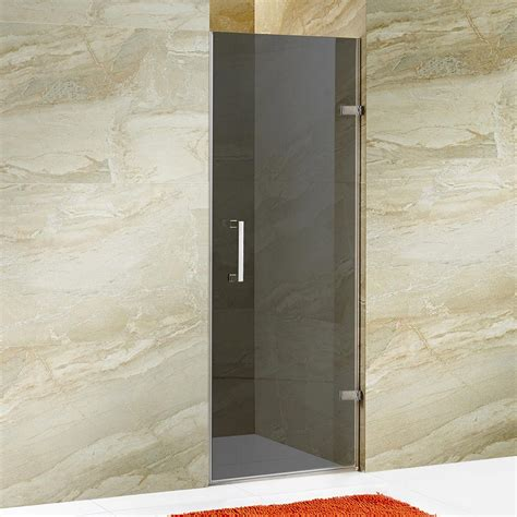 5 Shower Door Vigo Soho 28 5 In X 70 625 In Frameless Pivot Shower Door In Chrome Hardware With Tinted Black