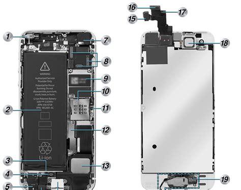 iphone 5s parts diagram microphone repair parts
