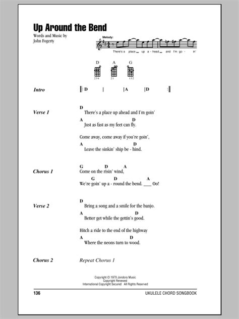 strumming pattern for up around the bend tablature guitare up around the bend de creedence