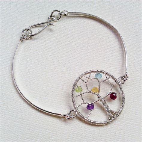 personalized tree of bracelet birthstone family tree