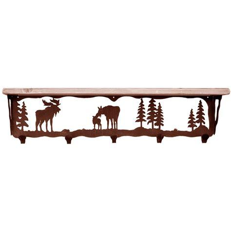 Shelf Coat Rack by Moose Family Coat Rack With Shelf 34 Inch