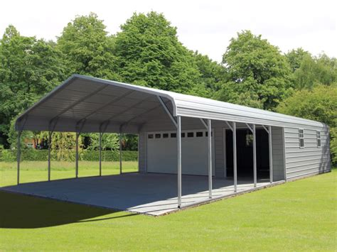 Car Port Garage by Steel Garage Carport Combo One Two Or Three Car Metal Garage