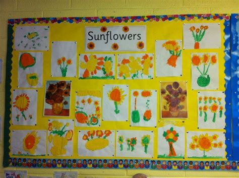 patterns in nature twinkl sunflower art display classroom display class display