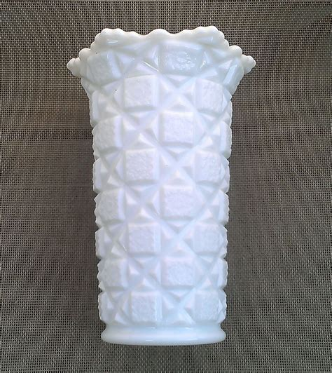 Westmoreland Milk Glass Vase westmoreland quilt 9 quot milk glass vase from