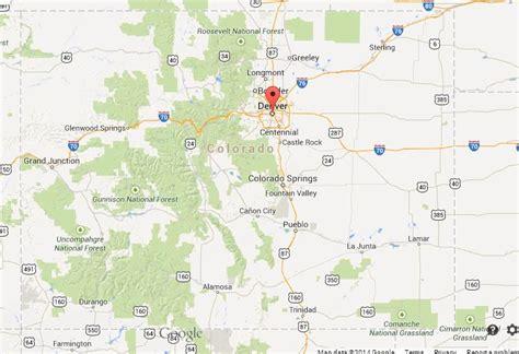 map usa denver denver on map of colorado world easy guides