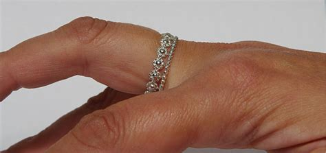 sterling silver chain stackable wedding rings silver
