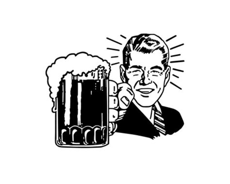beer cartoon black and white beer mug beer clipart cliparting com