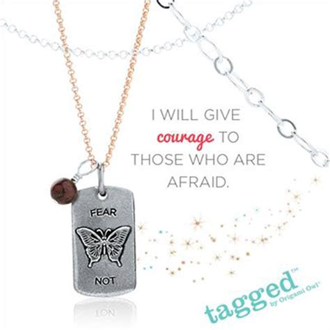 Charm Courage Label fear not accent tag from origami owl origami owl at