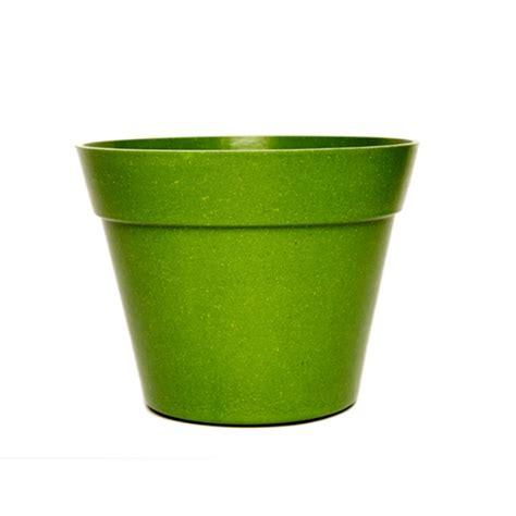 Green Planter Pots by Green Tones Classic Plant Pot Green Bamboo Fibre