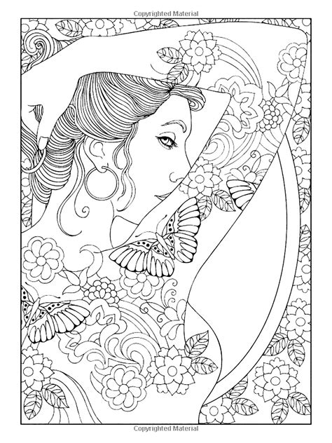 Shoulder tattooed woman - Tattoos Adult Coloring Pages