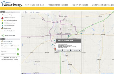 vectren power outage map westar energy adds outage map and outage reporting tool