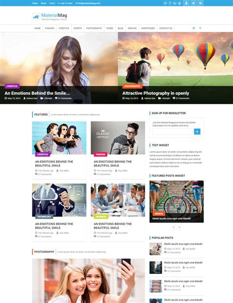 28 Responsive Html5 Magazine Website Templates Magazine Site Template