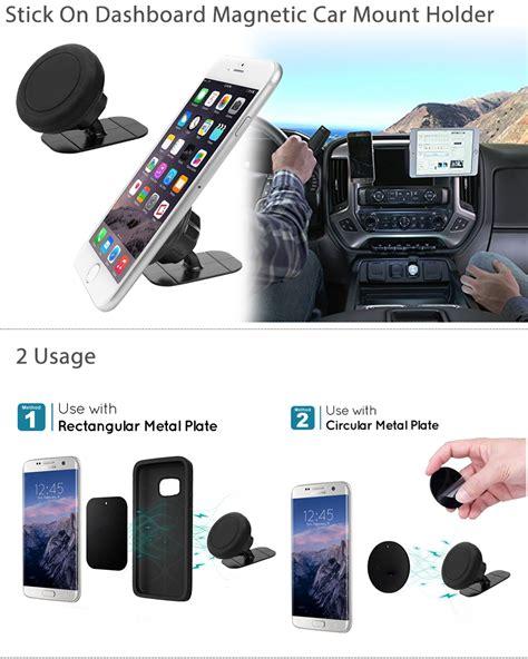 Patchworks Universal Magnetic Phone Holder Car Mount Set Original 360 176 universal stick on dashboard magnetic car mount holder cradle for phone gps ebay