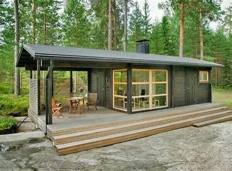 Cheap Big Cabins by Big Porch In This Tiny House To Maximize Living Space