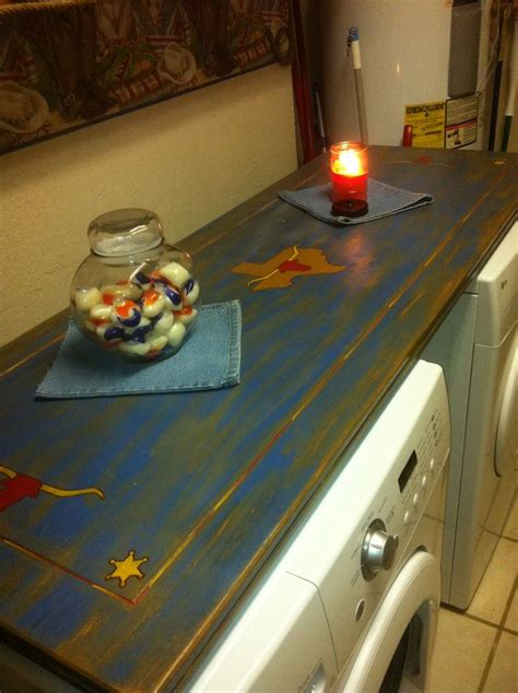 laundry room table top laundry room the top washer dryer table made from an table leaf rubber bumpers
