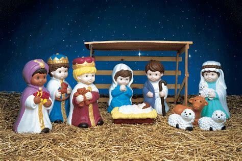 Illuminated Light Up 10 Piece Nativity Set Christmas Outdoor Light Up Nativity Set