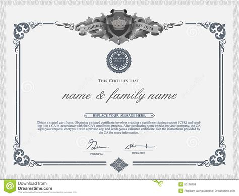 home design certificate design template unique patterned certificate design template stock vector image 50116798