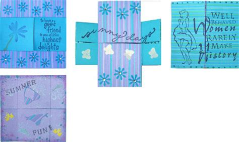 never ending card template neverending card for cardmaking